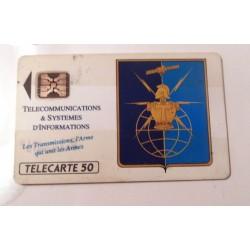 Ancienne carte téléphonique télécarte collection 50 unités armée de terre