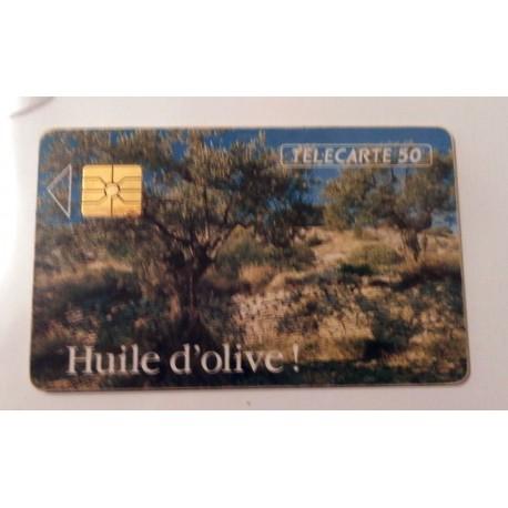 Ancienne carte téléphonique télécarte collection 50 unités huile d'olive