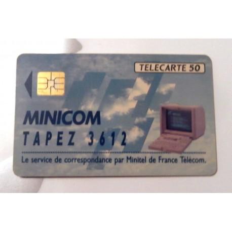 Ancienne carte téléphonique télécarte collection 50 unités minicom 3612