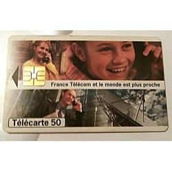 Ancienne carte téléphonique télécarte collection 50 unités France Télécom et le monde est plus proche collection occasion