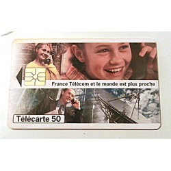 Ancienne carte téléphonique télécarte collection 50 unités France Télécom et le monde est plus proche 02 collection occasion
