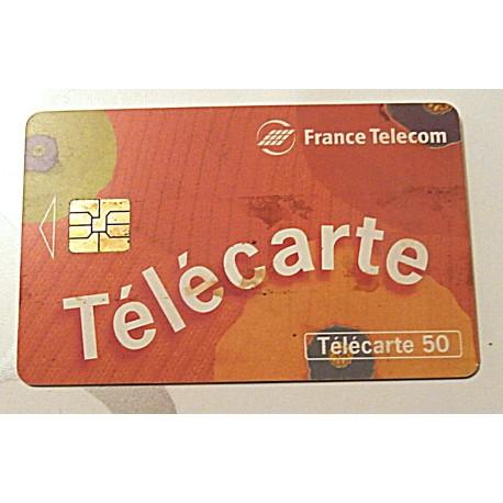 Ancienne carte téléphonique télécarte collection 50 unités France télécom télécarte