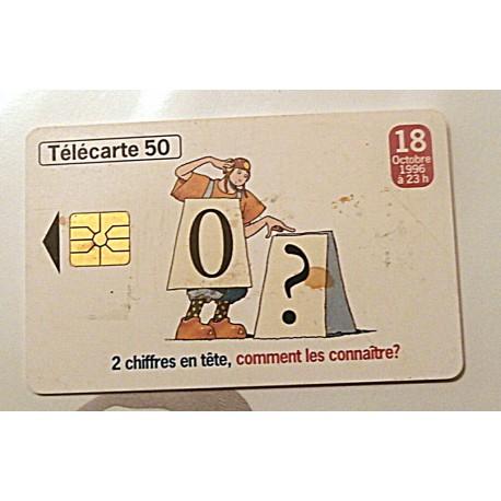 Ancienne carte téléphonique télécarte collection 50 unités 18 octobre 1996. 02