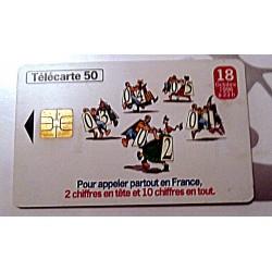 Ancienne carte téléphonique télécarte collection 50 unités 18 octobre 1996. 03