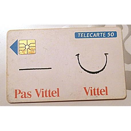 Ancienne carte téléphonique télécarte collection 50 unités vittel