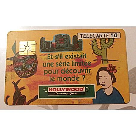 Ancienne carte téléphonique télécarte collection 50 unités hollywood