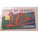 Ancienne carte téléphonique télécarte collection 50 unités l'ile de France 20 ans
