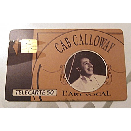 Ancienne carte téléphonique télécarte collection 50 unités Cab Calloway