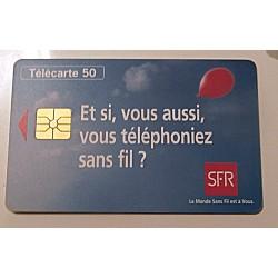 Ancienne carte téléphonique télécarte collection 50 unités SFR 02