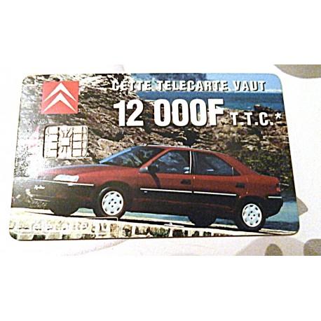 Ancienne carte téléphonique télécarte collection 50 unités Citroën 12000F
