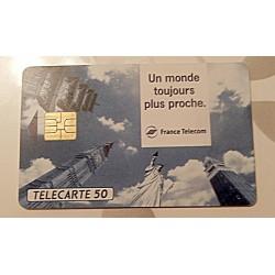 Ancienne carte téléphonique télécarte collection 50 unités un monde toujours plus proche collection occasion