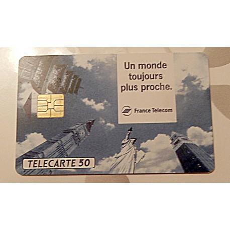 Ancienne carte téléphonique télécarte collection 50 unités un monde toujours plus proche