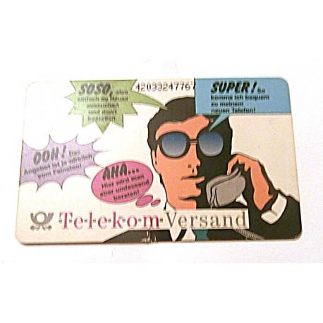 Ancienne carte téléphonique télécarte collection Allemande - Telekom Versand - 12 DM