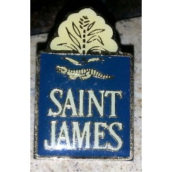 Ancien pin's collection saint james + attache métal