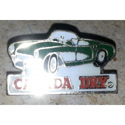 Ancien pin's collection canada dry + attache métal