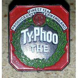 Ancien pin's collection ty phoo thé + attache métal