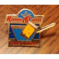 Ancien pin's collection RIVOIRE & CARRET + attache métal