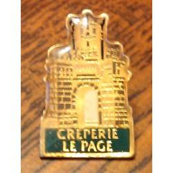 Ancien pin's collection CREPERIE LE PAGE + attache métal
