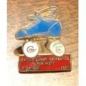 pin's collection CHAMPIONNAT DE FRANCE SUR PISTE ST BRIEUC 1991 + attache métal