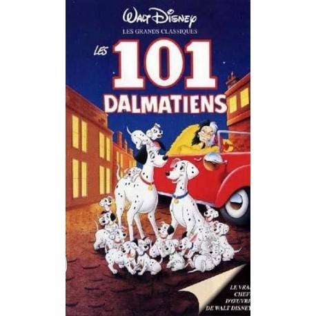 VHS - cassette vidéo walt disney enfant LES 101 DALMATIENS Reitherman Wolfgang