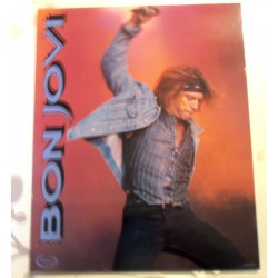 Poster cartonné déco star 30 x 24 cm BON JOVI COLLECTION