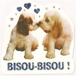 Carte postale - Bisou Bisou Anniversaire fête NEUVE