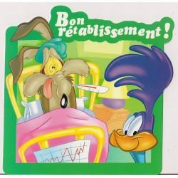 Carte postale - Bip bip & Coyote - Bon rétablissement NEUVE