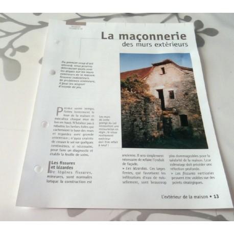 """FICHE FASCICULE COLLECTION LE GUIDE DE LA MAISON """" ORGANISER LE CADRE DE VIE 13 """""""