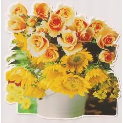 Carte postale - Bouquet de fleurs Anniversaire fête NEUVE