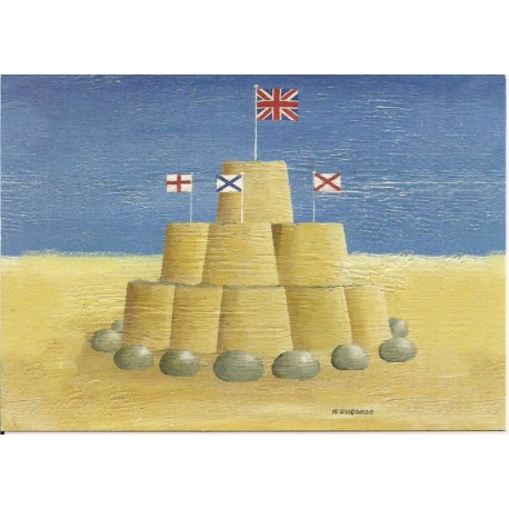 CARTE POSTALE NEUVE 12 X 17 CM collection DRIFTWOOD ART sandcastle