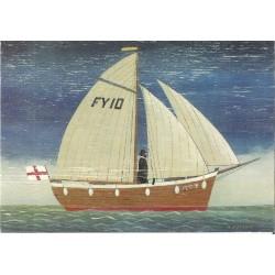 CARTE POSTALE NEUVE 12 X 17 CM collection DRIFTWOOD ART sailboat 1
