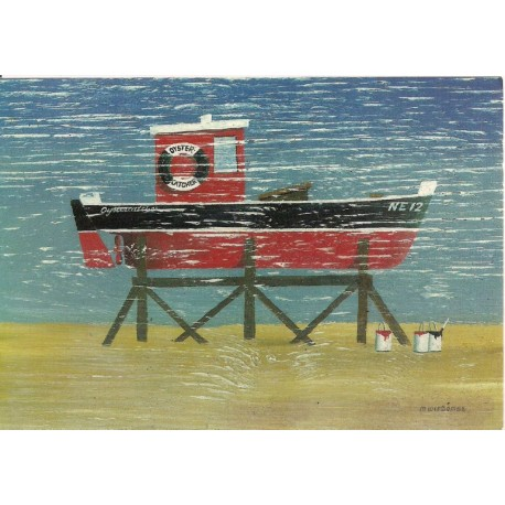 CARTE POSTALE NEUVE 12 X 17 CM collection DRIFTWOOD ART boat painting