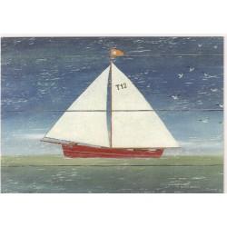 CARTE POSTALE NEUVE 12 X 17 CM collection DRIFTWOOD ART sailboat 2 neuve