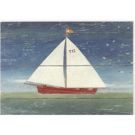CARTE POSTALE NEUVE 12 X 17 CM collection DRIFTWOOD ART sailboat 2