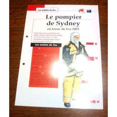 """FICHE FASCICULE """" LES SOLDATS DU FEU """" LE POMPIER DE SYDNEY TENUE DE FEU 2003"""