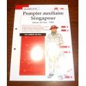 """FICHE FASCICULE """" LES SOLDATS DU FEU """" POMPIER AUXILIAIRE SINGAPOUR TENUE DE FEU 1941"""