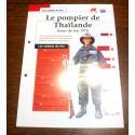 """FICHE FASCICULE """" LES SOLDATS DU FEU """" POMPIER DE THAÏLANDE TENUE DE FEU 1975"""
