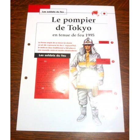 """FICHE FASCICULE """" LES SOLDATS DU FEU """" POMPIER DE TOKYO EN TENUE DE FEU 1995"""