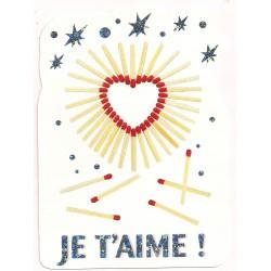 Carte postale - je t'aime Anniversaire fête en tout genre saint valentin neuve
