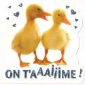 Carte postale NEUVE - on t'aime - Canetons