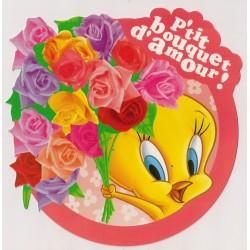 Carte postale - p'tit bouquet d'amour - Titi anniversaire fête en tout genre neuve