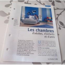 """FICHE FASCICULE COLLECTION LE GUIDE DE LA MAISON """" LA CHAMBRE 251"""""""