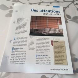 """FICHE FASCICULE COLLECTION LE GUIDE DE LA MAISON """" LA CHAMBRE 309"""""""