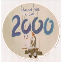 Carte postale - longue vie à l'an 2000 anniversaire fête en tout genre neuve