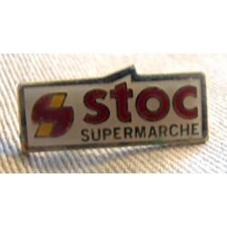 Pin's collection publicitaire SUPERMARCHE STOC sans attache