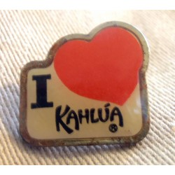 Ancien Pin's collection publicitaire I LOVE KAHWA sans attache