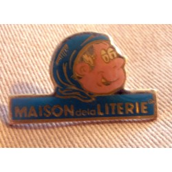 Ancien Pin's collection publicitaire MAISON DE LA LITERIE sans attache