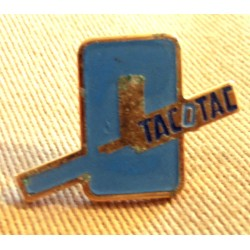 Ancien Pin's collection publicitaire TACOTAC BLEU (2) sans attache