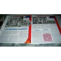 "FICHE FASCICULE POMPIERS COLLECTION "" L'HISTOIRE "" fiche 13/14 collection occasion"
