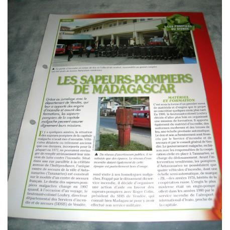 """FICHE FASCICULE POMPIERS COLLECTION """" LES POMPIERS DU MONDE """" fiche 1"""
